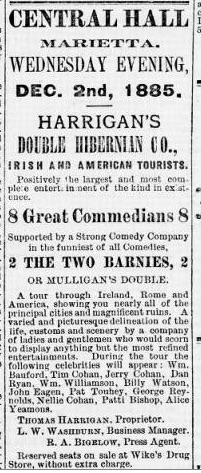 Touhey References 1885-1899 American Ireland Panorama Shows